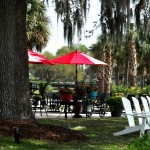 Patio Garden Dining Area For After A Horse Carriage Tour
